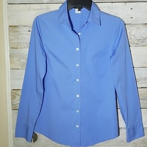 J.Crew Stretch Button Down long sleeve blue top S